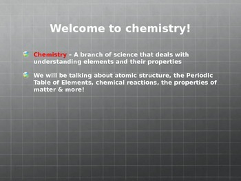 Intro to Chemistry PowerPoint