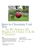 Intro to Chemistry Unit Test / Sig Figs / Scientific Notation / Unit Conversions