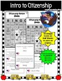 Intro to Citizenship Bingo Review Game (B/W)