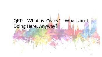 Intro to Civics:  Question Formulation Technique