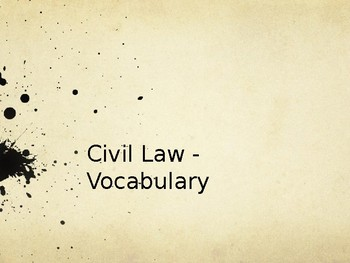 Intro to Civil Law Power Point