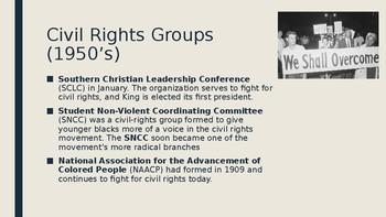 Intro to Civil Rights (1950's)