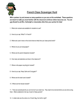 Intro to Class Scavenger Hunt