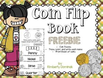 Intro to Coins Flip Book FREEBIE