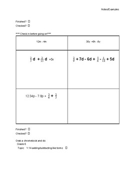 Intro to Combining Like Terms