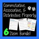Intro to Commutative Associative and Distributive Properties Bundle