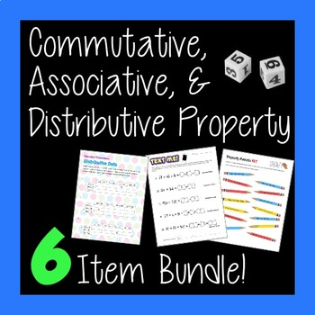 Intro to Commutative Associative and Distributive Properti