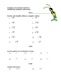 Intro to Complex Numbers Worksheet