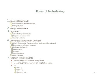 Intro to Cornell Note-Taking