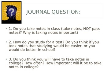 Intro to Cornell Notes, and SQ3R Study Method