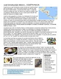 Intro to Costa Rica comprehensible reading with questions