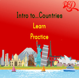 ESL Intro to...Countries - Learn and Practice *10 Countries* FUN GAME