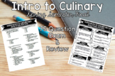 Intro to Culinary Spring Semester Final Exam and Review