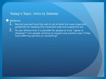Intro to Debate