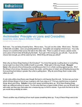 Intro to Density & Bouyancy, Archimedes' Principle - Engag