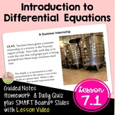 Introduction to Differential Equations (Calculus - Unit 7)