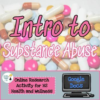 Introduction to Substance Abuse - Online Research - EDITABLE in Google Docs!
