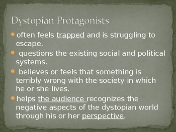 Intro to Dystopian Literature PowerPoint