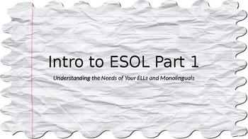 Intro to ESOL Part 1