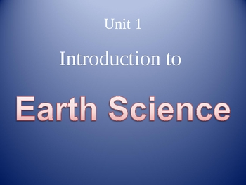 Intro to Earth Science