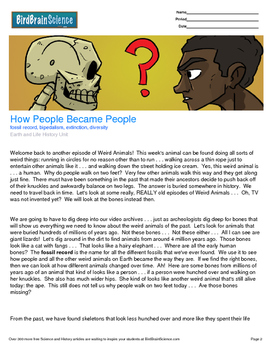 Intro to Earth and Life History, How People Became People -Engaging Science Read