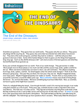 Intro to Earth and Life History, The End of the Dinosaurs - Engaging Science