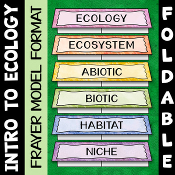 Intro to Ecology Foldable - Frayer Model Format - Great for INBs!