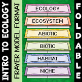 Intro to Ecology Foldable - Great for Interactive Notebooks