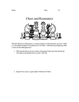 Intro to Economics using the game chess