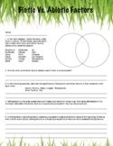 Intro to Ecosystem Worksheet (Abiotic and Biotic Fators)