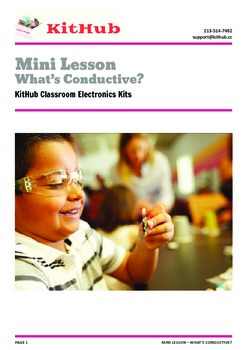 Intro to Electronics: Identify Conductive Materials - Mini Lesson