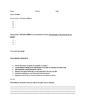 Intro to Emotions Note Organizer with Exit Slip