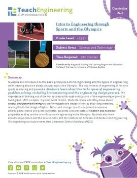 Intro to Engineering through Sports and the Olympics