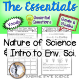 Intro to Environmental Science Goals & Scales, Essential Questions & Vocab