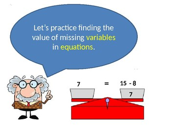 Intro to Equations with Variables addition and subtraction Algebraic Expressions
