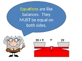 Intro to Equations with Variables addition and subtraction