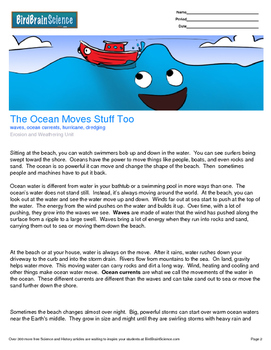 Intro to Erosion and Weathering, The Ocean Moves Stuff Too - Engaging Science