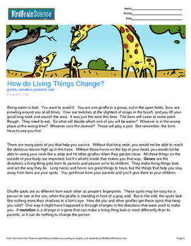 Intro to Evolution, How do Living Things Change? - Engagin