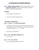 Intro to Evolution Webquest