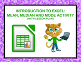 Intro to Excel: Mean, Median, and Mode Activity (with Less
