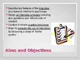 Psychology  - Intro to Experimental Methods Lesson 5 Inter