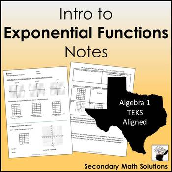 Intro to Exponential Functions Notes
