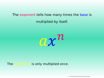 Intro to Exponents PowerPoint