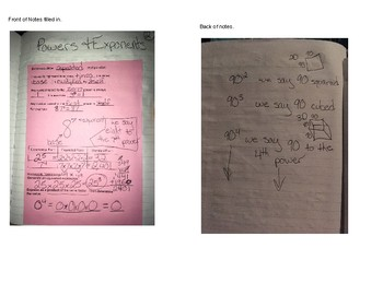 Intro to Exponents Notes
