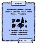 Intro to Factor Trees & Reducing Fractions: Student Activity Book for Gr. 3 - 5