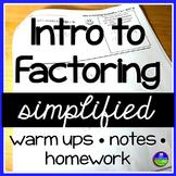 Factoring Notes Simplified - factoring quadratics