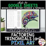 Google Sheets Digital Pixel Art Math Intro to Factoring Trinomials a=1
