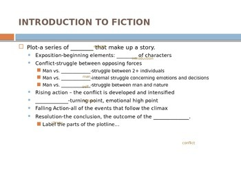 Intro to Fiction ppt