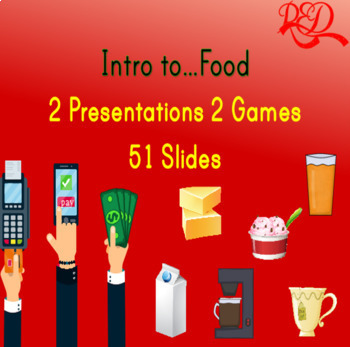 Intro to...Food - Vocabulary, Ordering, 2xGames *51 Pages*