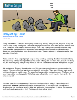 Intro to Forces, Babysitting Rocks - Engaging Science Reading